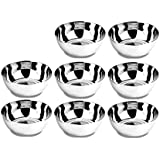 Floranso Steel Bowl 8 Pcs Set - Medium Stainless Steel Veg Bowl Vati Katori Serving Dish