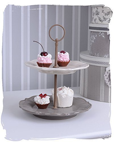 Nostalgie Konfektschale für Petit Fours & Cupcakes Porzellan Etagere PALAZZO EXCLUSIVE