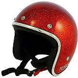 Jethelm Vintage TORX Wyatt Glitter RED ROT Flake Biker Custom L Rosso Glitter