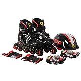Swagspin Ferrari Inline Skate Combo Set Black Size 33-36 Skating Kit
