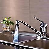 TWIFER Küchenspüle 7 Farbwechsel Wasser Glühen Wasser Dampf Dusche LED Wasserhahn Hähne Licht
