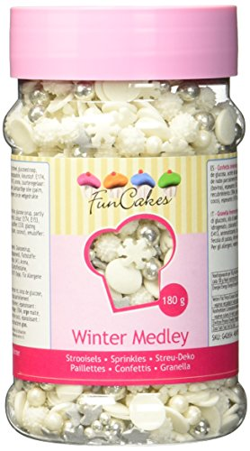 FunCakes Sprinkle Medley -Winter, 1er Pack (1 x 180 g)