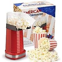 Global Gourmet Popcorn Maker 1200W | Gourmet Popcorn Machine | Best Air Popcorn Popper - Fat Free and Healthy