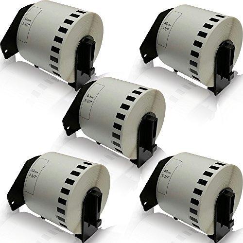 Preisvergleich Produktbild 5x kompatible Etiketten-Rollen für Brother DK-22205 62mm x 30,48m P-Touch QL 560 VP P-Touch QL 560 YX P-Touch QL 570 P-Touch QL 580 P-Touch QL 580 N P-Touch QL 650 TD P-Touch QL 700 P-Touch QL 710 W P-Touch QL 720 NW Adress-Etiketten 62mm x 30,48 m DK22205