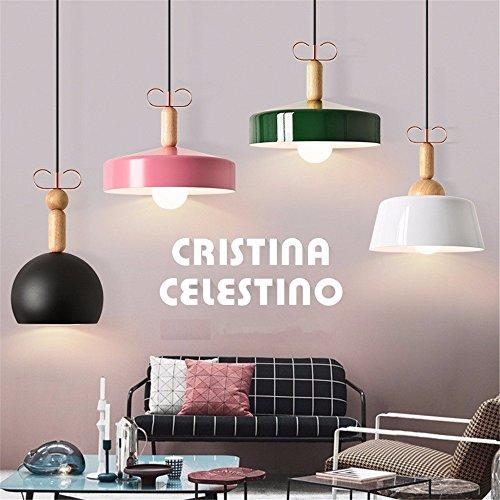 Farbige Nordic Aluminium Pendelleuchte moderne Schlichtheit Pendelleuchte für Wohnzimmer Bar Restaurant foyer Speisesaal Beleuchtung,B Lamp-White,Kleine