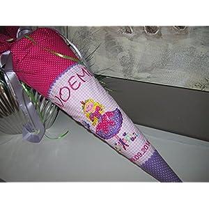 Prinzessin Schultüte Stoff + Papprohling + als Kissen verwendbar, pink, lila, rosa