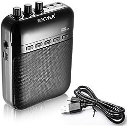 Neewer® NW-03M 5W dados electrónicos portátiles amplificadores de guitarra, grabadora, altavoz, amplificador de guitarra–Tarjeta TF externa de hasta 32G (Negro).