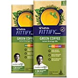 Saffola FITTIFY Gourmet Green Coffee Instant Beverage Mix, Assorted Pack, 2 X 10 g