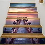 Treppenaufkleber Sunset Beach Brige Diy Schritte Aufkleber Keramikfliesen Muster Treppe Aufkleber Aufkleber Hochzeit Home Decor