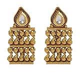 Maisha's Exquisite Antique Gold Drop Ear...