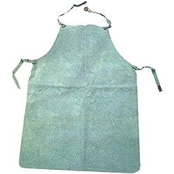 Eskubi - Delantal para soldador piel serraje 90x60 gris