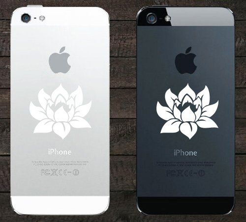 Lotus Flower - Design 1 - Android/iPhone - Vinyl Phone Decal (1.75