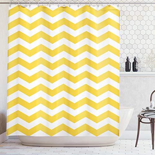 Cortinas amarillas de baño 175 x 200 cm