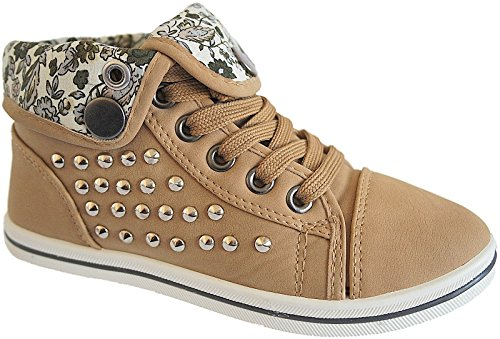 Mädchen Freizeit Knöchelschuhe Sneaker Schuhe gr.30-35 nr.29024 Khaki