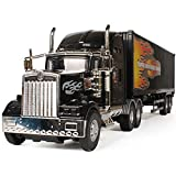 Mogicry Juguete Grande camión Americano camión de Juguete de fricción para niños Un Empuje obligatorio (camión Negro) Suitble para Mayores de 3 años Niños y niñas Carro Americano para niños 3+ Regalo