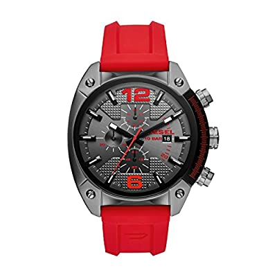 Diesel Men's Chronograph Quartz Watch with Silicone Strap DZ4481