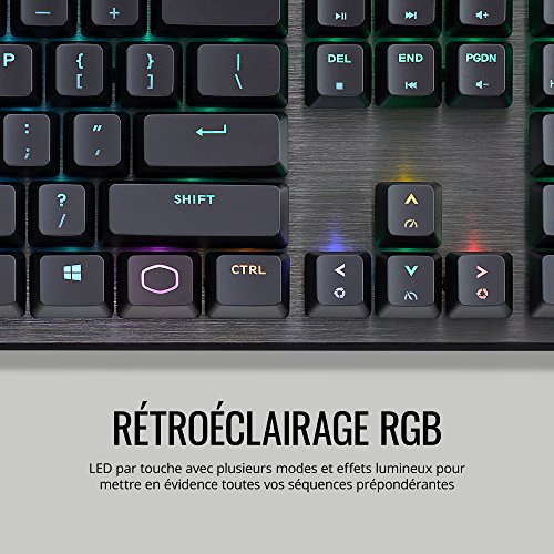 Cooler Master - CK550 - Clavier Mécanique Gaming RGB - AZERTY (PC/Consoles) Chassis aluminium 4
