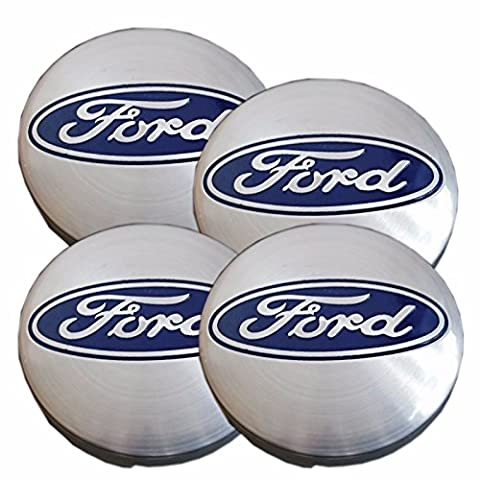 fd oem 6M211003BABL , 6M21-1003-AABL Set Of 4 Ford 54Mm Alloy Wheel Hub Center Caps Ford Silver Blue