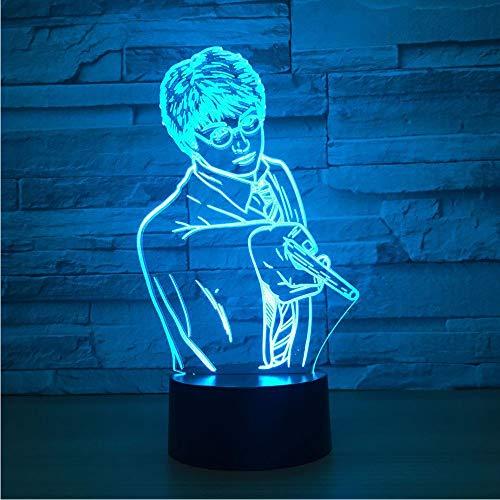 Shuyinju Kreative Usb 7 Farben Ändern 3D Vision Männlichen Lehrer Modellierung Schreibtischlampe Led Klassenzimmer Atmosphäre Dekor Baby Schlaf Nachtlicht