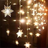 Luce per tende a fiocco di neve 3.5M 96 Leds Luci natalizie Ghirlanda Lampada fata Decorazione per giardino di nozze Nave da lancio