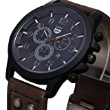 #7: HOT, Vintage Classic Mens Waterproof Date Leather Strap Sport Quartz Army Watch CO by YANG-YI