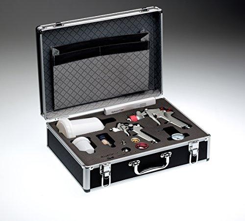 Profi-Alukoffer mit 2 HVLP Pistolen und 4 Düsensätze (0.8/1.0/1.4/1.8mm)