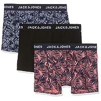 Jack & Jones Men's Jacbob Trunks 3 Pack Underwear, in Fiery Red, Size: Large