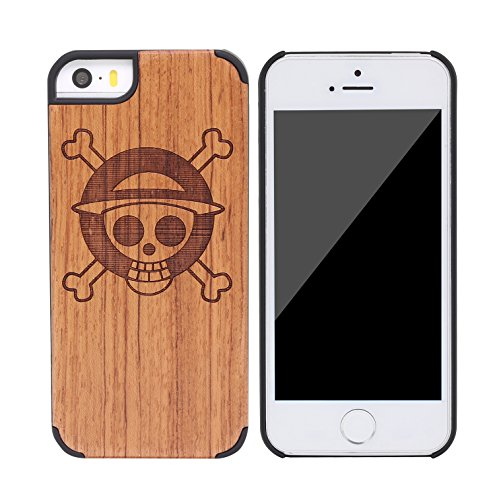 SunSmart Apple iPhone 5/5s cas Bois peau de couverture de protection pour iPhone 5 5s--12 15