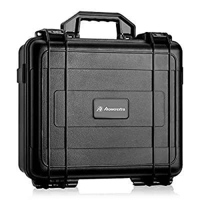 Powerextra Hardshell Waterproof Carrying Case with Customized Foam for DJI Mavic Pro Drone and Accessories