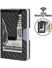 Clip de Dinero Ultraligero Tarjetero Hombre de Fibra de Carbono con RFID Bloqueador (Caja de Regalo)