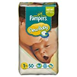 Ancienne version - Pampers New Baby Couches Taille 1 - 2-5 kg Format Géant lot de 2...