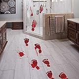 OHQ Blutige Fußabdrücke Boden klammert Halloween Vampir Zombie Party Decor Aufkleber
