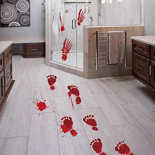 (TAOtTAO Blutige Fußabdrücke Boden klammert Halloween Vampir Zombie Party Decor Aufkleber)