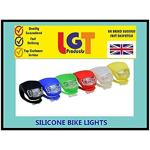 Manico in Silicone LED bici anteriore, posteriore, Sedile, Bar, Luce