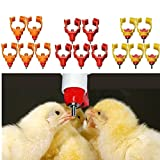 #2: 10Pcs Chicken Nipple Water Drinker Watering Poultry Feeder 360° Angle