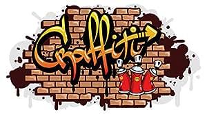 I love wandtattoo was 10612 jugendzimmer wandsticker graffiti wandausbruch schriftzug mit - Wandsticker graffiti ...