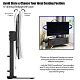 """Invision® RS400 ScreenStation Table Top TV Pedestal Stand with Tilt and Swivel using FreeMotion Technology – For 32 55"""" TV Screens – Ultra-Stable 8mm Tempered Glass Base with Anti-Slip Feet [RS400] Bild 4"""