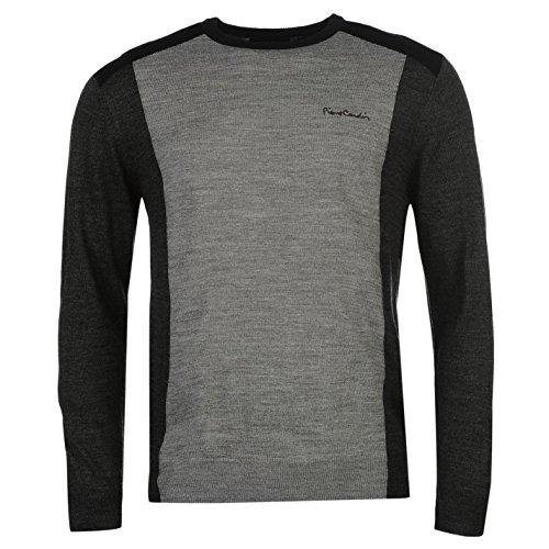 pierre-cardin-hombre-panel-de-punto-sueter-jersey-jumper-ropa-vestir-casual-grey-m-char-m-large