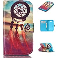 Nutbro LG L70 Case, Stand Flip Leather Cover Case for LG L70 D325 D320 with Card Slot Stand