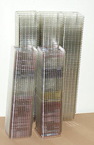 50 HEIMCHENDOSEN - 1 x GEBRAUCHT- TRANSPARENT GELOCHT mit Deckel Rechteckdose perforiert