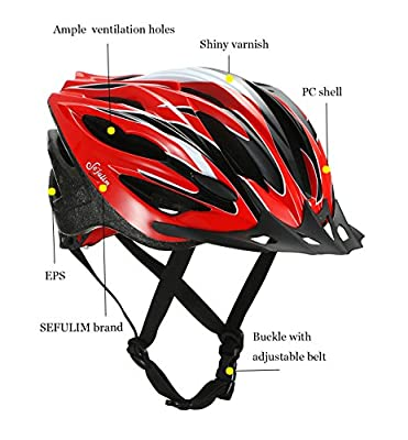 Sefulim Cycle Bike Helmet Men Adjustable Sport Women Cycling Helmets-Safety MTB Bicycle Helmet(L) by Sefulim