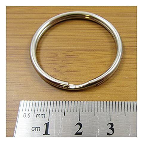 STEEL SPLIT RINGS 8mm - 40mm *13 SIZES* KEYRING KEYFOB CONNECTOR UK SELLER (35mm Pack of 10 C323)