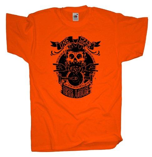 Ma2ca - One Gear - Mountainbike Biker - T-Shirt Orange