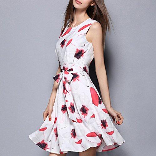 Pinkyee Damen Kleid Pattern Color
