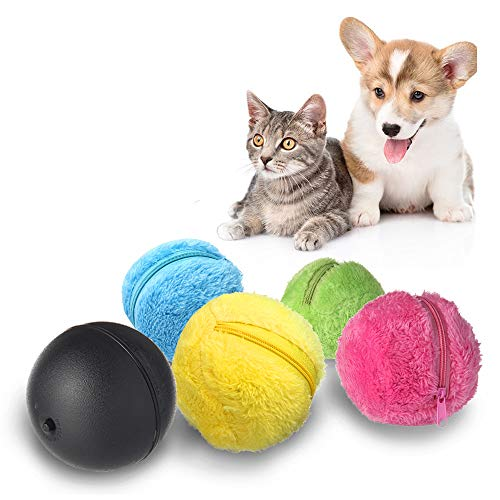 Teepao Magic Roller Ball Spielzeug, Automatischer Roller Ball Magic Ball Hund Katze Pet Spielzeug (1 Rollball 4 Farben)