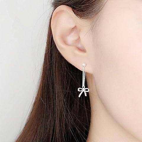 XJoel Mädchen-Herz-nette Meng-Armband-Ohrringe S925 Sterlingsilber-Ohrringe süßes einfaches Ohr-hängen
