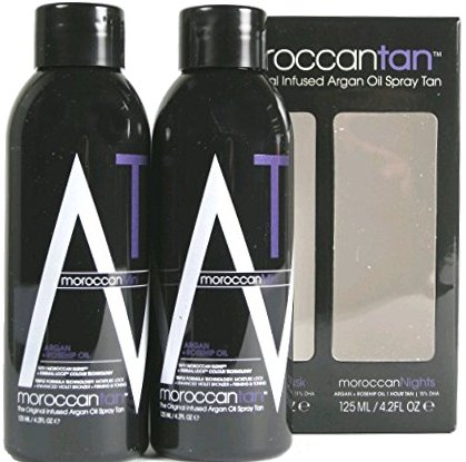 Moroccan Tan Solution Sampler Exotic Collection 2er Pack je 125 ml - Spray Tanning Lotion (Dreifach-bronzer)