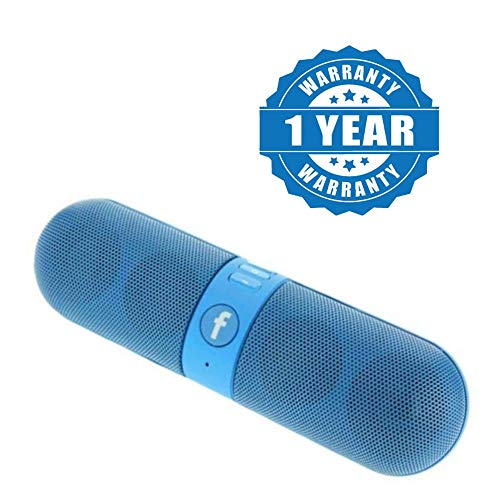Captcha Wireless Bluetooth Pill Shaped Stereo Speaker with Rechargeable Inbuilt Battery