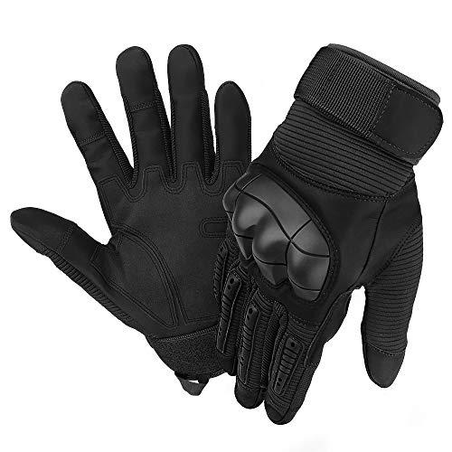 JUCERS MotorradHandschuhe Herren Touchscreen Fahrrad Handschuhe Outdoor Vollfinger Taktische Handschuhe Army Gloves Sporthandschuhe für Motorrad Fahrrad Airsoft Militär Paintball Jagd
