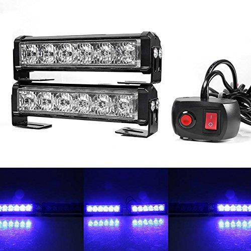 LED kühlergrill Beleuchtung, Gledto Frontblitzer Warnleuchte Straßenräumer Rundumleuchte Blinkleuchte 12V-24V 24W, Feuerwehr Polizei LKW